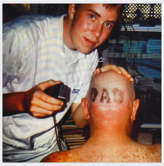 Michael Stickrod Cuts Richard Stickrod's Hair,1993 (Poster for Karl-Craft Exhibition at Helper, Summer 2014)